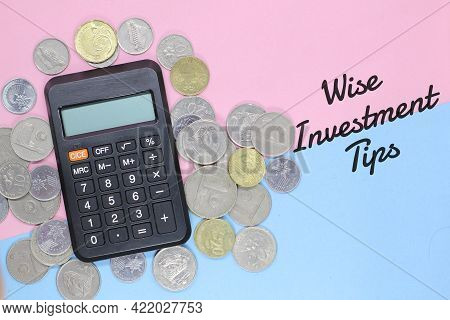 The Concept Of Wise Investment Tips. Selective Focus