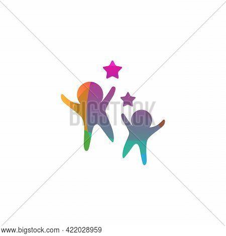 Colorful Kids Play Logo Vector, Children Logo Designs Template, Design Concept, Logo, Logotype Eleme