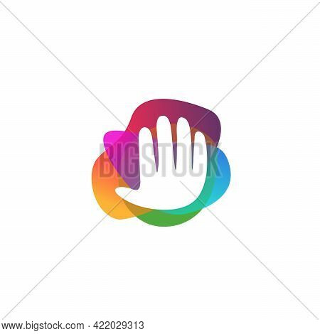 Colorful People Charity Logo, Helping, Care, Healthcare Logo Designs Template