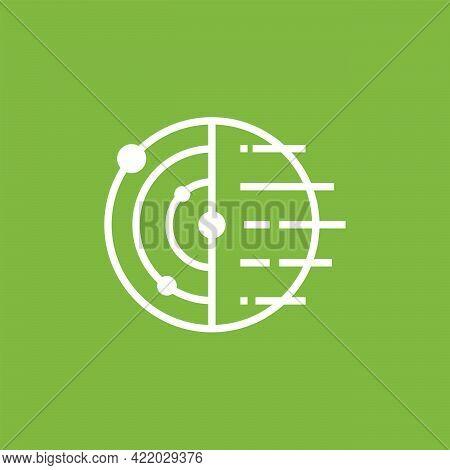 Simple Planet Technology Logo Designs Concept Vector