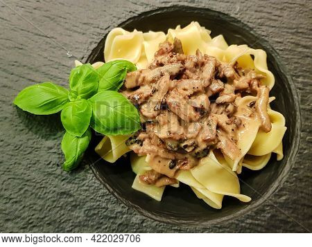 Pappardelle With Pork Tenderloin And Truffle Sauce