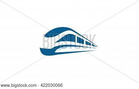 Futuristic Metro Railway Transport Logotype Icon, Fast Train Logo Designs Concept Vector