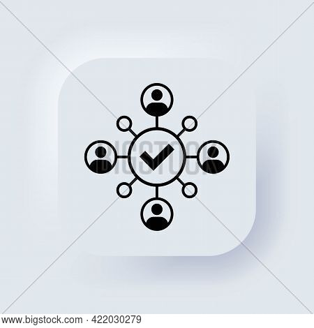Unity Icon. Cooperation, Coworking Icon. Successful Communication Employees. Teamwork, Collaboration