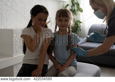 Little Girl At The Doctors - Pediatric Checkup