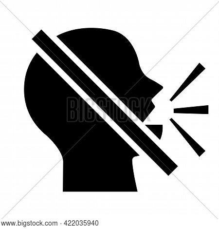 Symbol Sign Keep Silence Symbol On White Background