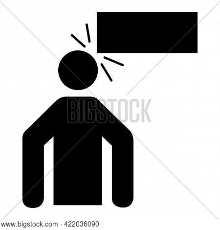 Low Clearance Symbol Sign On White Background