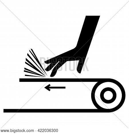 Hand Abrasion Belt Drive Symbol Sign Icon