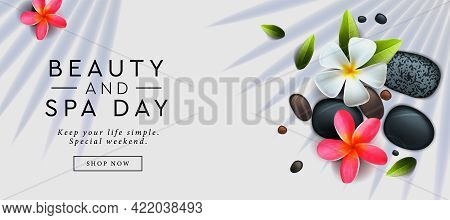 Beauty And Spa Day Advertising Banner. Horizontal Web Banner Template. Can Used For Web Design, Head