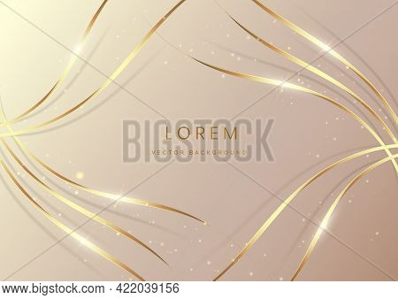 Abstract Luxury Background With Gold Lines Curve. Luxury Style. Vector Illustration