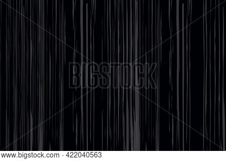 Black And White Standing Horizontal Parallel Lines Seamless Pattern Isolate White Background