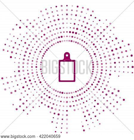 Purple Cutting Board Icon Isolated On White Background. Chopping Board Symbol. Abstract Circle Rando
