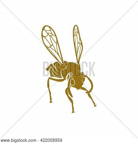 Wasp Vector Illustration. Wasp Logo Design Concept Template. Creative Symbol