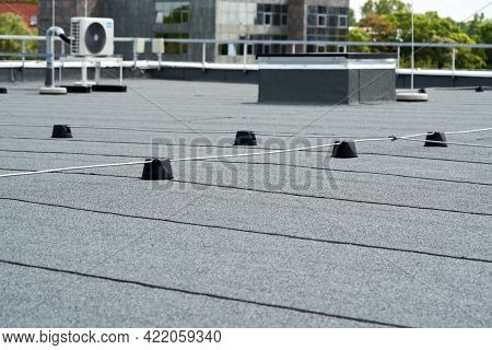 Flat Roof Protective Covering With Bitumen Membrane For Waterproofing