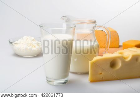 Milk, Cheese, Dairy Product. High Quality Image