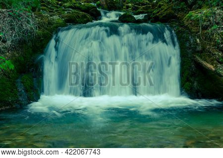 Small Waterfalls On The Bigar River, Natural Reserve In The Anina Mountains