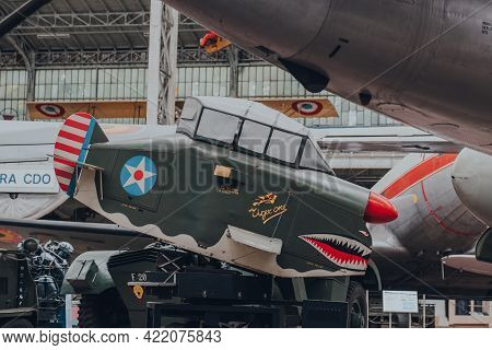 Brussels, Belgium - August 17, 2019: Army Navy Trainer Ant-18 Vintage Pilot Trainer Built In 1943 In
