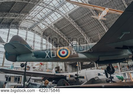 Brussels, Belgium - August 17, 2019: Bristol 149 Bolingbroke Aircraft In The Royal Museum Of The Arm