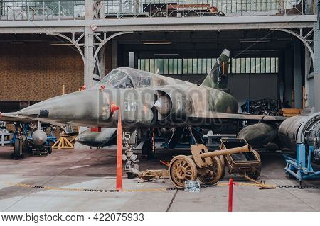 Brussels, Belgium - August 17, 2019: The Lockheed F-104 Starfighter Supersonic Aircraft Inside The R