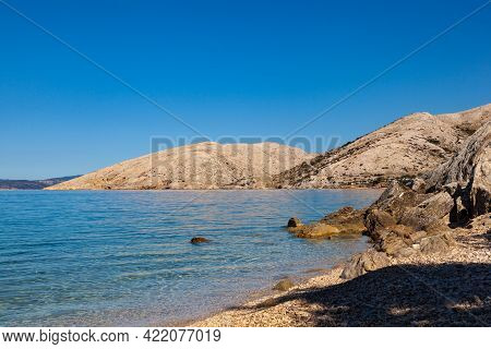 View Of The Stara Baska Beach During The Summer Time