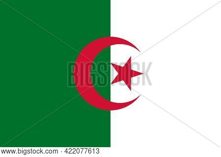 Flag Of Algeria. Official Colors. Correct Proportion