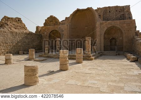Ruins Of A Church In The Ancient Nabataean Settlement Of Shivta In The Negev Desert