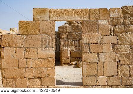 Ruins Of The Ancient Nabataean Settlement Of Shivta In The Negev Desert