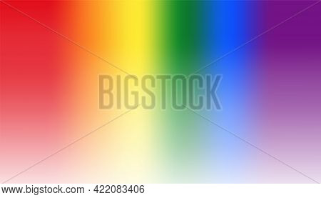 Background Of Rainbow Color, Pride Day. Vector Illustration.