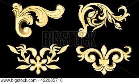 Gypsum, Gold Metal Products, Stucco Weave, Pattern Isolated