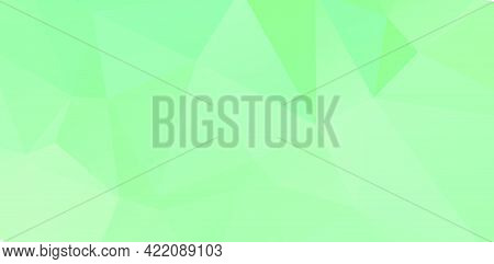 Green Vivid Geometric Abstract Bright Green Blurred Mosaic Wallpaper With Triangle Shapes For Banner