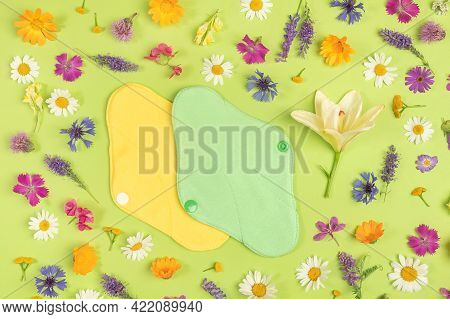 Bamboo Charcoal Washable Sanitary Napkins, Healthy Womens Sanitary Pads, Reusable Menstrual Pads And