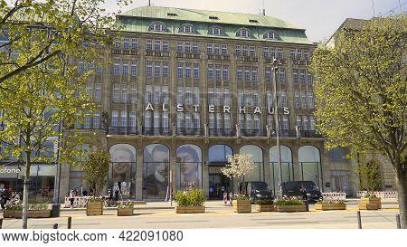 Department Store Alsterhaus In Hamburg - Hamburg, Germany - May 10, 2021
