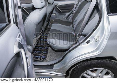Novosibirsk, Russia - May 29, 2021:toyota Rav-4,   Interior Design, Car Passenger And Driver Seats W