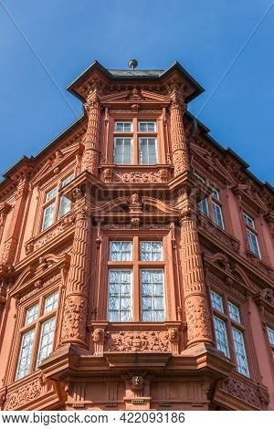 Corner Of The Historic Palace In Mainz, Germany