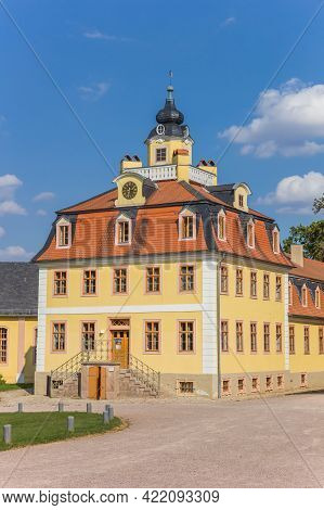 House With Tower At The Belvedere Castle In Weimar, Germany