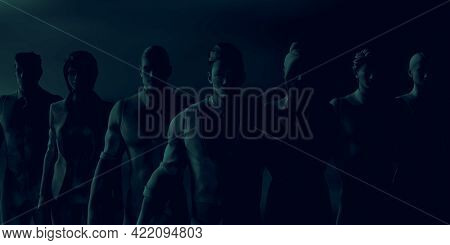 Business Manipulation with Corporate Bosses Sinister in the Shadows 3d Render