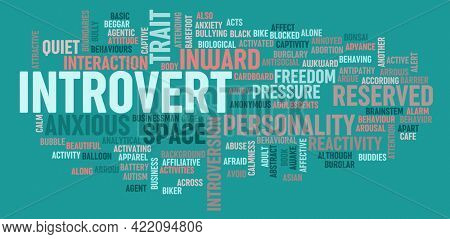 Introvert Personality Concept of Human Psychology Character