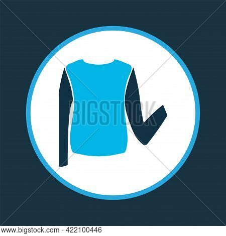 Low Bias Roll Icon Colored Symbol. Premium Quality Isolated Sweater Element In Trendy Style.