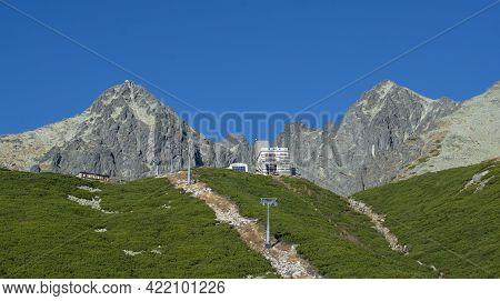 Lomnicky Peak (lomnicky Stit) In The Summer. Second Highest Peak In The High Tatras.