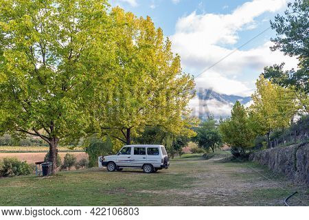 Kruisrivier, South Africa - April 5, 2021: A Camp Site At Kruisrivier Camping At The Foot Of The Swa