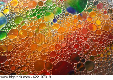 Abstract Colors, Backgrounds And Textures. Oil Coloring Creating Bright Colorful Abstract Background