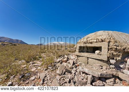 A Typical Albanian Bunker Somewhere In The Countryside