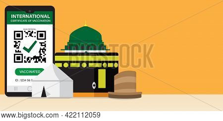 A Vector Of Hajj Places Need To Visit Kaaba, Arafah Tent, Nabawi Mosque And Mina Jamrah With Interna