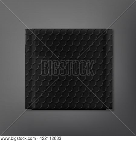Black Bubble Soft Packet On Dark Background