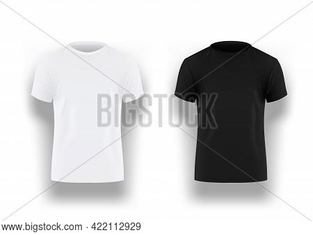 Mens Black And White T-shirt With Short Sleeve
