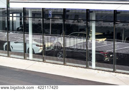 Ostrava, Czech Republic - April 29, 2021: The Storefront Of Dealership Of German Bmw Cars With 6-ser