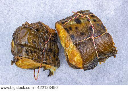 Hot Smoked Catfish.delicious Chunks Of Smoked Catfish Close-up.healthy Food.