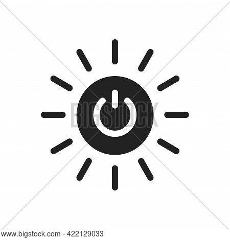 Affordable And Clean Energy Black Icon. Corporate Social Responsibility.
