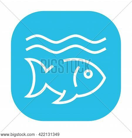 Life Below Water Black Icon. Corporate Social Responsibility.