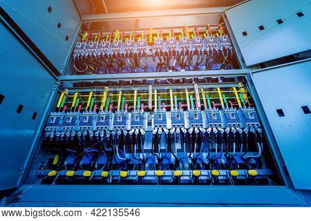 Compartment Of Electrical Equipment In A Complete Transformer Substation