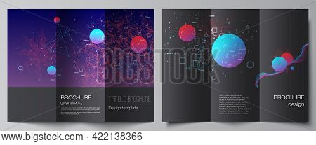 Vector Layouts Of Covers Templates For Trifold Brochure, Flyer Layout, Magazine, Book Design, Brochu